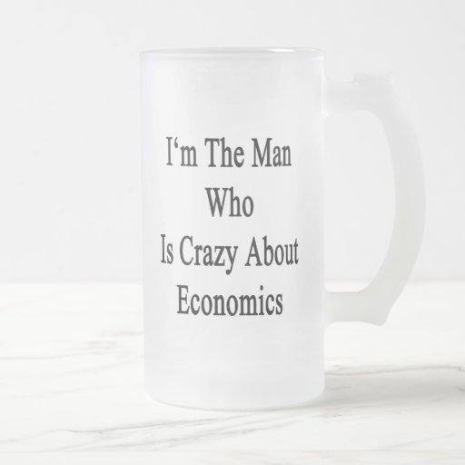 Je suis l'homme qui est fou au sujet de l'économie mugs à café