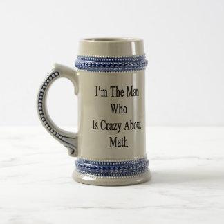 Je suis l'homme qui est fou au sujet des maths tasse à café