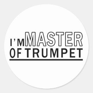 Je suis maître de trompette autocollant