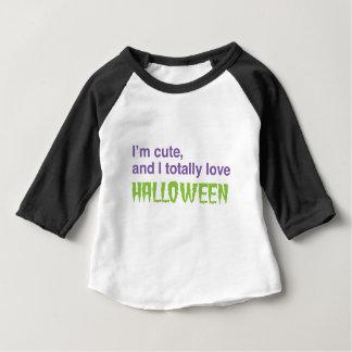 Je suis mignon et j'aime totalement Halloween T-shirt Pour Bébé