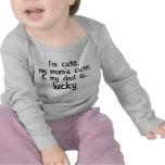 Je suis mignon, la maman mignonne, et le papa t-shirts