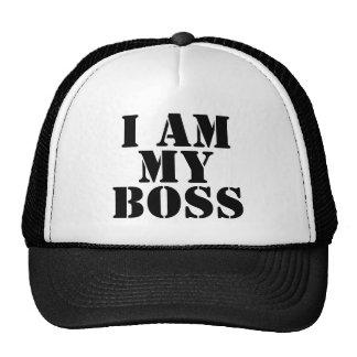 Je suis mon patron. Slogan Casquettes