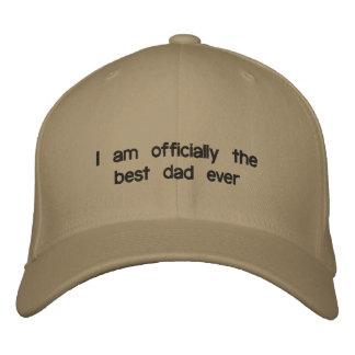 Je suis officiellement le meilleur papa jamais casquette brodée