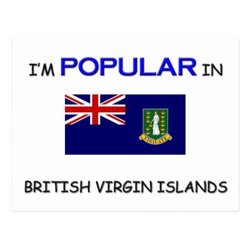 Je suis populaire en ÎLES VIERGES BRITANNIQUES Carte Postale