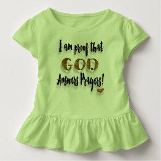 Je suis preuve que Dieu répond à des prières ! T-shirt Pour Les Tous Petits