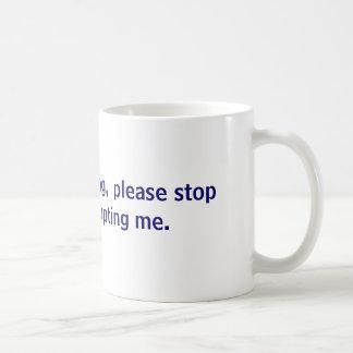 Je suis prise de parole en public, arrête svp mug
