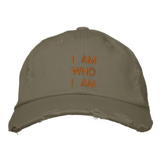 Je suis qui je suis casquettes brodées