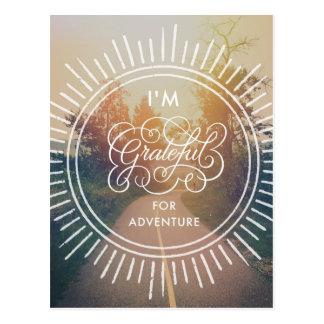 Je suis reconnaissant pour l'aventure carte postale