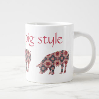 Je suis style allant de porc tasse géante