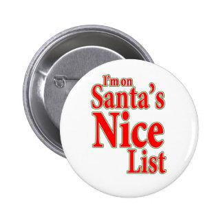 Je suis sur la liste de Père Noël Nice Badge