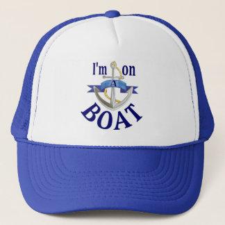 Je suis sur un bateau disant le casquette bleu de