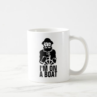 Je suis sur un bateau mug blanc
