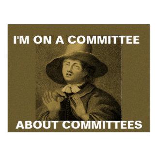 Je suis sur un comité au sujet des comités - meme cartes postales
