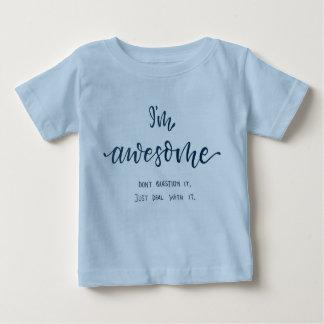 """""""Je suis"""" T-shirt impressionnant de bébé bleu pour"""
