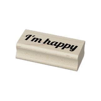 Je suis tampon en caoutchouc heureux, timbre