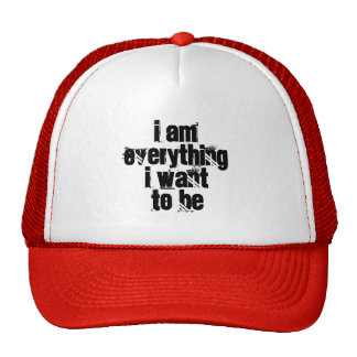 Je suis tout que je veux être chapeau casquette