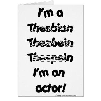 Je suis un acteur (pour les produits de couleur carte de vœux