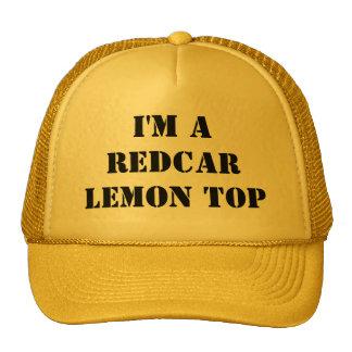 Je suis un casquette de dessus de citron de Redcar