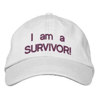 Je suis un chapeau de survivant casquette brodée