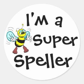 Je suis un correcteur orthographique superbe sticker rond