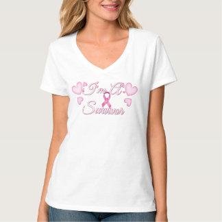 Je suis un dessus de cancer du sein de survivant t-shirt