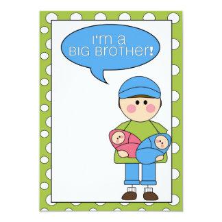 je suis un faire-part de frère (des jumeaux de carton d'invitation  12,7 cm x 17,78 cm
