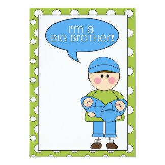 je suis un faire-part de frère (frères jumeaux) carton d'invitation  12,7 cm x 17,78 cm