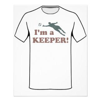 Je suis un gardien de but du football de gardien prospectus 11,4 cm x 14,2 cm