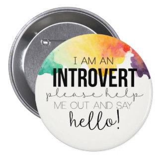 Je suis un introverti ! badge