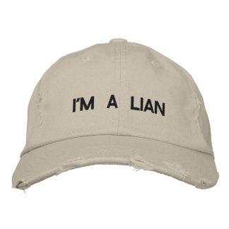 Je suis un lian casquettes de baseball brodées