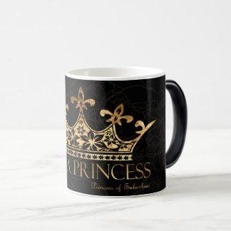 Je suis un noir de la princesse w/Crown tasse