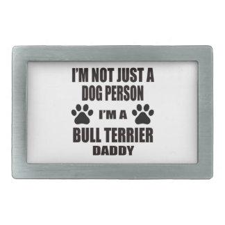Je suis un papa de bull-terrier boucles de ceinture rectangulaires