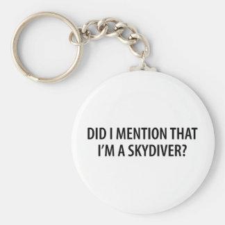 Je suis un parachutiste porte-clé rond