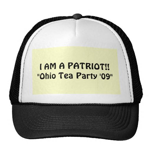 "JE SUIS UN PATRIOTE ! ! ""Thé '09"" de l'Ohio Casquette"