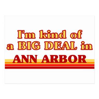 Je suis un peu une AFFAIRE à Ann Arbor Cartes Postales