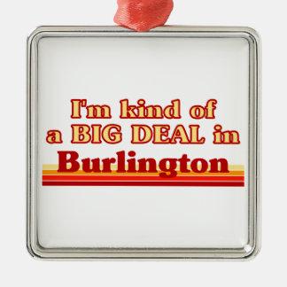 Je suis un peu une affaire à Burlington Ornement Carré Argenté