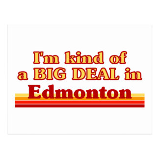 Je suis un peu une affaire à Edmonton Carte Postale