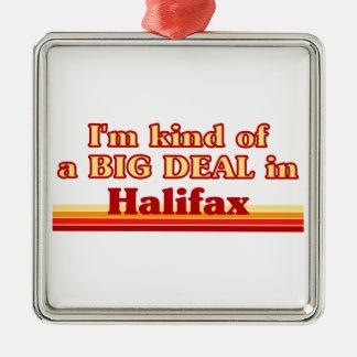 Je suis un peu une affaire à Halifax Ornement Carré Argenté