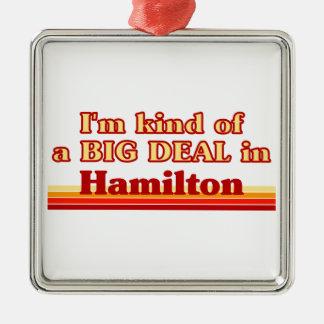 Je suis un peu une affaire à Hamilton Ornement Carré Argenté