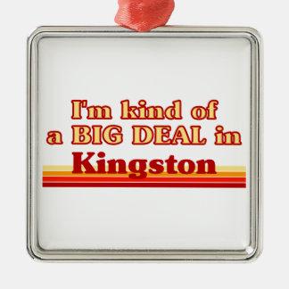 Je suis un peu une affaire à Kingston Ornement Carré Argenté