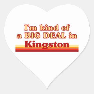 Je suis un peu une affaire à Kingston Sticker Cœur
