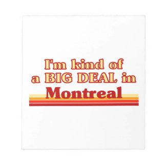Je suis un peu une affaire à Montréal Bloc-note