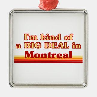 Je suis un peu une affaire à Montréal Ornement Carré Argenté