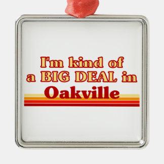 Je suis un peu une affaire à Oakville Ornement Carré Argenté