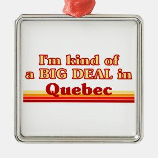 Je suis un peu une affaire au Québec Ornement Carré Argenté