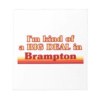 Je suis un peu une affaire dans Brampton Bloc-note