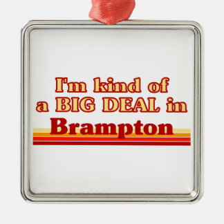 Je suis un peu une affaire dans Brampton Ornement Carré Argenté
