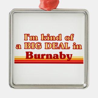 Je suis un peu une affaire dans Burnaby Ornement Carré Argenté