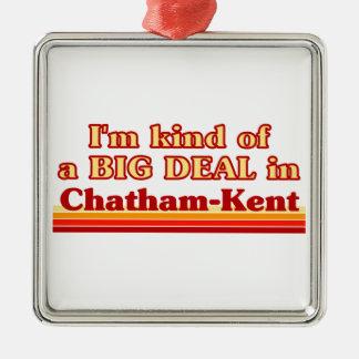 Je suis un peu une affaire dans Chatham-Kent Ornement Carré Argenté