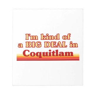 Je suis un peu une affaire dans Coquitlam Bloc-note